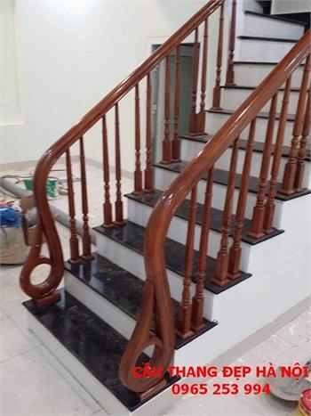 Mẫu Cầu thang gỗ đẹp 20