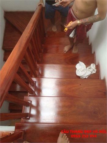 Mẫu Cầu thang gỗ đẹp 19